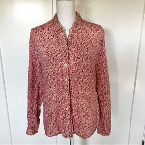 Holding Horses | Anthropologie Floral Button Down